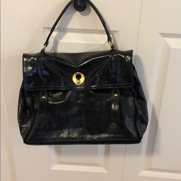 ae275a476656 YSL sac muse two 2 black patent w  suede. M 5b7a1569d365be1cdc64177f
